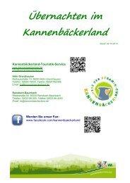 Übersicht im PDF Format - Kannenbäckerland