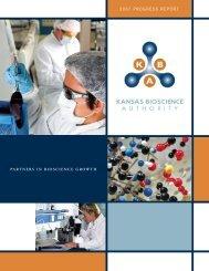 2007 PrOgreSS rePOrt - Kansas Bioscience Authority