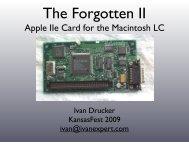 Apple IIe Card for the Macintosh LC - KansasFest