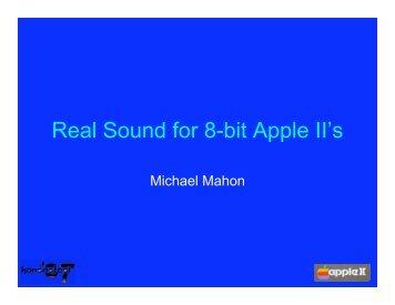 Real Sound for 8-bit Apple II's - KansasFest