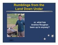 Rumblings from the Land Down Under Project 'JB' - KansasFest
