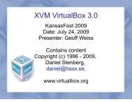 KFest 2009 VirtualBox - KansasFest