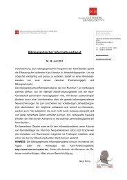 Bibliographischer Informationsdienst - Kant-Forschungsstelle