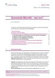 Gymnasiale Maturität - was nun? (81 kB, PDF)