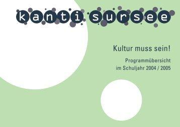 Kulturkalender - Kantonsschule Sursee