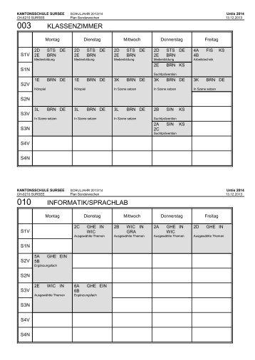 klassenzimmer informatik/sprachlab - Kantonsschule Sursee