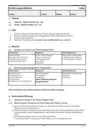 Mikrobiologie Kursablauf - Kantonsschule Wil