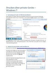 Drucken u ber private Gera te – Windows 7