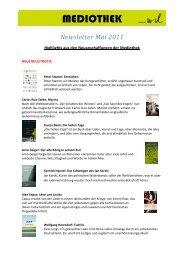 Newsletter Mai 2011 - Kantonsschule Wil