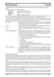 Enzympraktikum Theorie - Kantonsschule Wil