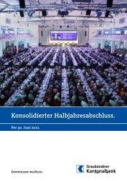 Flyer Halbjahresabschluss 2012 - Kantonalbanken