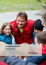 Geschäftsbericht 2012 - Kantonalbanken