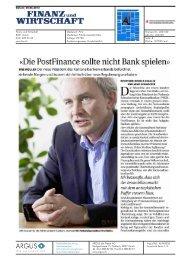 Die PostFinance sollte nicht Bank spielen - Kantonalbanken