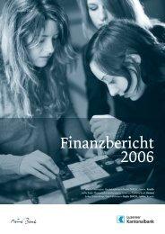 Finanzbericht 2006 - Kantonalbanken