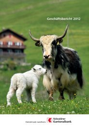 Geschäftsbericht 2012 - NKB - Kanton Nidwalden