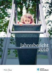 Jahresbericht 2010 - Kantonalbanken