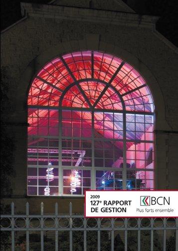 Rapport de gestion 2009 télécharger - BCN