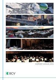 RAPPORT ANNUEL 2010 - BCV