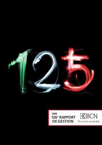 Rapport de gestion 2008 télécharger - BCN