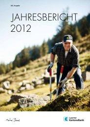 JAHRESBERICHT 2012 - Kantonalbanken