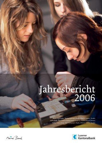 Jahresbericht 2006 - Kantonalbanken