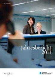 Jahresbericht 2011 - Kantonalbanken