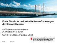 Power Point Präsentation - Kantonalbanken