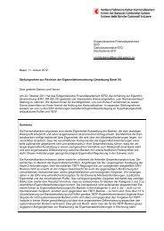 Umsetzung Basel III - Kantonalbanken