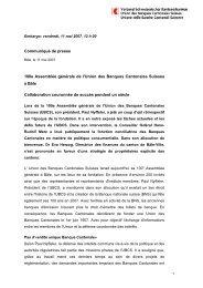 Communiqué de presse 100e Assemblée générale de l'Union des ...