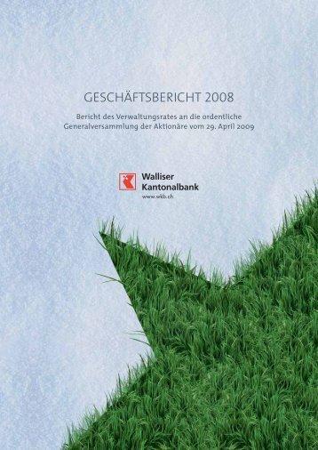 GESCHÄFTSBERICHT 2008 - Kantonalbanken