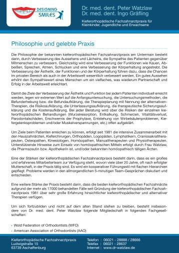 Praxis-Philosophie - in der Kieferorthopädischen Fachpraxis ...