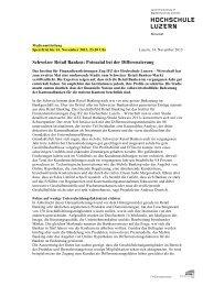 Schweizer Retail Banken: Potenzial bei der ... - Kantonalbanken
