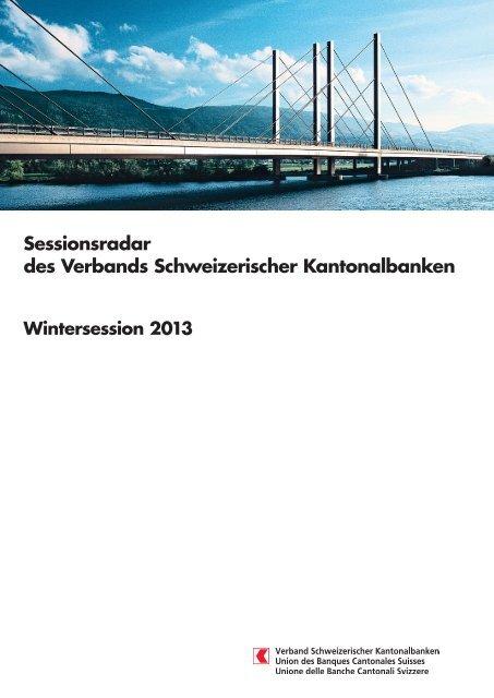 Wintersession 2013 - Kantonalbanken