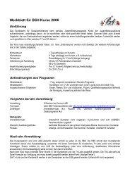 Merkblatt für BSV-Kurse 2006