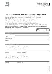 Checkliste | Aufbaukurs Pfadistufe – J+S-Modul Lagerleiter LS/T PBS
