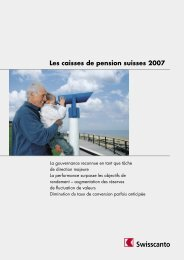 Les caisses de pension suisses 2007 - Swisscanto