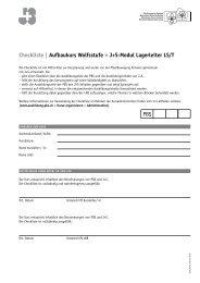 Checkliste | Aufbaukurs Wolfsstufe – J+S-Modul Lagerleiter LS/T PBS