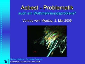 Asbest - Problematik - Kantonales Laboratorium
