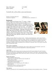 Date of the report: 15.10.2002 Report number: 36 Foodstuffs with a ...