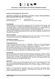 Bericht als PDF herunterladen - Kantonales Laboratorium