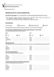 Meldeformular für Lebensmittelbetriebe - Kantonales Laboratorium