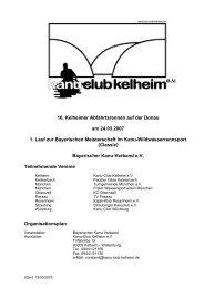 10. Kelheimer Abfahrtsrennen auf der Donau am 24.03.2007 1. Lauf ...