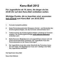 Kanu-Ball 2011 - Kanu Club Kelheim