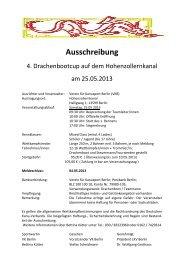 Ausschreibung - Landes-Kanu-Verband Berlin