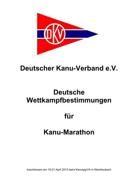 Deutsche Wettkampfbestimmungen für Kanu-Marathon
