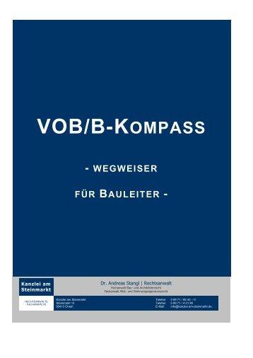 VOB/B-Kompass - Wegweiser für Bauleiter - (Stand 09/2013)