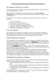 Abmahnung - Rechtsanwälte Preidel und Burmester