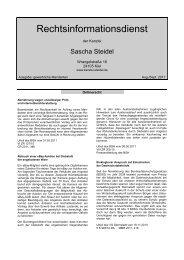 gewerblich - Rechtsanwalt Sascha Steidel