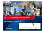 Ziel- und Steuerungssystematik für die HAW Hamburg - Kanzlernet.de