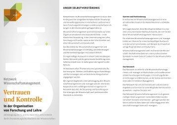 Netzwerk Wissenschaftsmanagement: Einladung ... - Kanzlernet.de